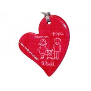Pendentif coeur stylisé