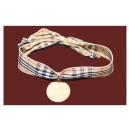 Bracelet médaille sur ruban ou liberty